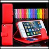 Book style stand wallet Leather Case for iPhone 5 with 3 Card slots