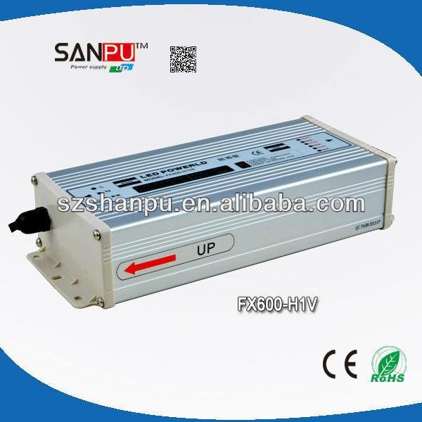 Shenzhen SANPU CE ROHS waterproof 600W led driver 220v ac 12v dc led power supply led electronic transformer