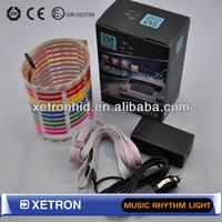 Car Music rhythm Light 45*11cm LED Sound Activated Equalizer Multi Colors Flash