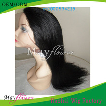 8-30inch light yaki indian remy full lace wig can do natural hair braids with bleached knots