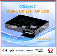 hd tv decoder,dvb-c stb,digital to analog tv converter box COL1080C