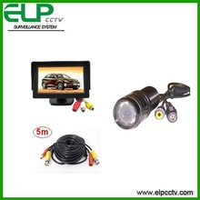Vehicle Rear View car reverse camera kit with 4.3 inch Monitor and camera