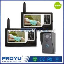 2.4ghz digital wireless intercom video door phone 1 outdoor camera + 2 indoor monitorPY-3501A