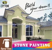 Acrylic Liquid Granite Stone Mastic Paint For Wall Decoration