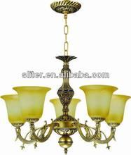 Vintage chandelier in Rustic