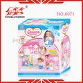 casas de juguete para los niños de plástico 8071 juguete villa con mueble de juguete y casa de juego