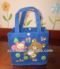 2014 new design high quality had canvas student bag lunch bag for kids