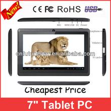 Hot 7 polegada Tablet PC barato melhores presentes de natal 2013 para o marido