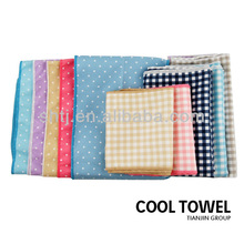 70% polyester and 30% polyamide microfiber towel