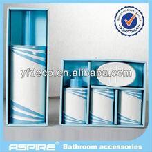 New ceramic bamboo bathroom set handpaint wholesaler
