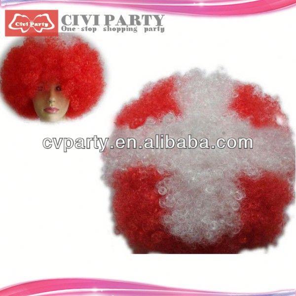 Wholesale hair wig,cheap colourful party wigs human hair false eyebrow