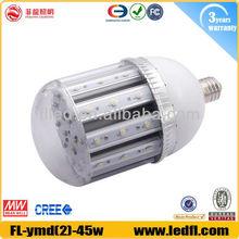 dimmable led power supply 360 degree e40 led corn light 45w 5000K