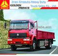 howo 4x2 rojo de carga de camiones