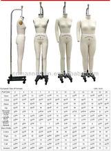 Adjustable full-body dress form
