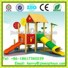 outdoor wooden equipment, children wooden playground equipment, china wooden playground JMQ-P093B
