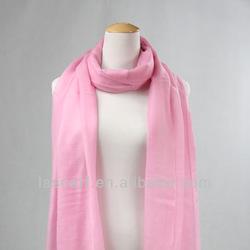 fashion warm pink color lady wool wrap