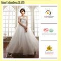 elegante bordado de encaje de organza blanca hinchada princesa vestido de bola vestido de novia más tamaño vestido de novia venta al por mayor de china forma