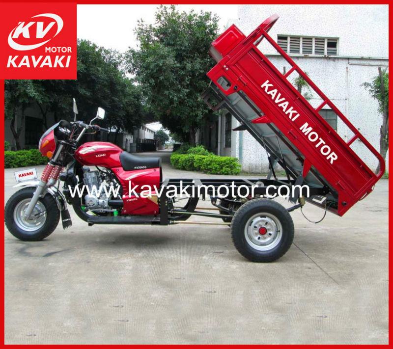 2013 Guangzhou new 150CC/200CC/250CC three wheel motorcycle/ tricycle with hydraulic cargo box