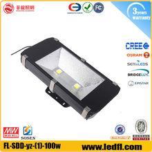 battery powered led flood light fixture 100w hid flood light