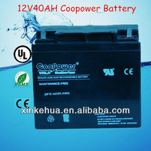 China/Shenzhen 12V40AH battery for power wheel chairs/ battery for home alarm system