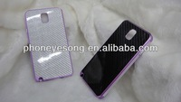 2014 latest metal aluminum bumper frame carbon fiber back plate protective case cover for samsung galaxy note 3