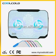 Coolcold 14inch anti-slip metal mesh no usb laptop cooler pad