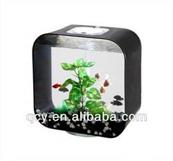 QCY-Y-5-4 middle black square acrylic fish aquarium