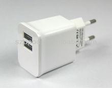 Universal 2.1A Dual USB Travel adapter European Plug