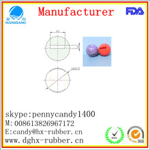 Dongguan manufacturer high bouncy 24m,26m,30mm,32mm,35mm,40mm, 4 inch soft rubber ball