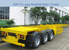 Huaren Tri- axle skeleton trailer, container transport chassis trailer