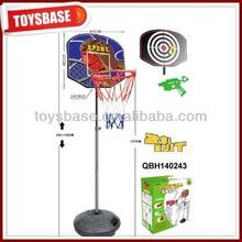 plastic basketball hoop with ball