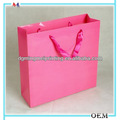 Rosa de regalo de colores de papel bolsas/de regalo de papel bolsas de venta al por mayor