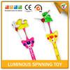 Kids Plastic Flashing Light Up Spinning Toys Stick for Fun