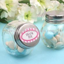 mini glass wedding favor candy jar