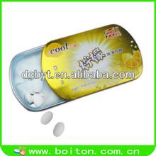 Low calorie sugar free breathe lemon mints