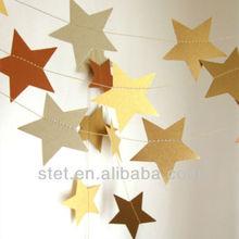 DIY felt pennant string flags star banner for wedding birthday party decoration