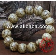 Tiger pattern Agarwood Beads Bracelet