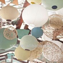 wholesale large basketball-shaped handmade paper lantern for wedding decoration