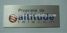Zinc alloy golden name plate
