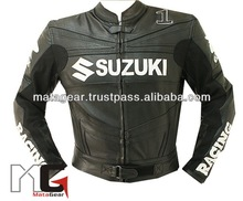 Suzuki Motorcycle Racing Leather Jacket