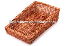 natural de mimbre pan cestas de pantalla de la bandeja