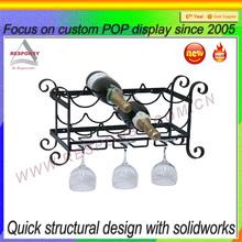 docrative metal wine display rack wine shop display equipment- ec