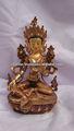 tara verde estátua artesanal do nepal parte banhado a ouro
