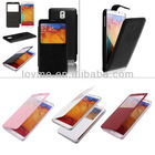 Flip View Leather Case Battery Cover for Samsung Galaxy Note 3 III N9000 N9005