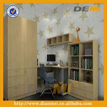 melamine wardrobe with study table modular bedroom wardrobe