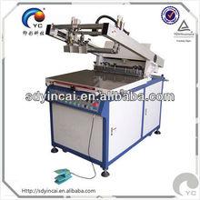 Semi-automatic oblique arm printer for the silk screen