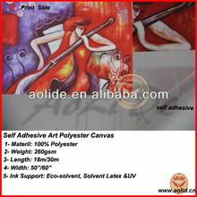 self adhesive art polyester canvas