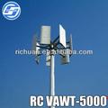 5kw pitch controlada turbina eólica/eletricidade de energia eólica usina geradora