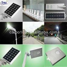 integral solar led street light with solar panel and led light