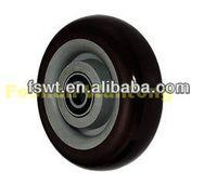 Medium Duty Swivel PU wheel barrow casters For Furniture, Hardware, Industrial